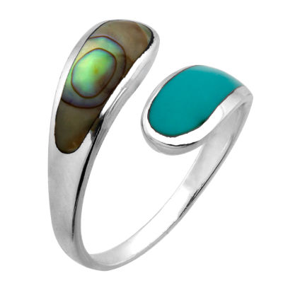 sterling page product opal com qvc rings textured silver italian ring bypass