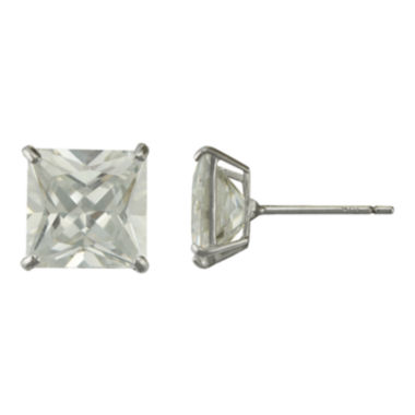 jcpenney.com | Square Cubic Zirconia Stud Earrings 14K White Gold
