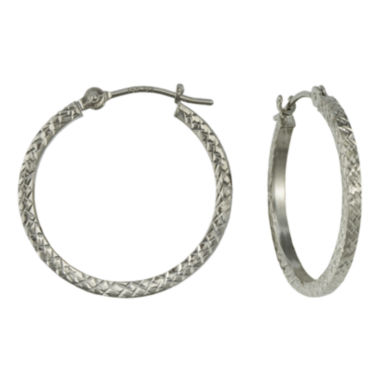 jcpenney.com | 14K Gold Square-Cut Hoop Earrings