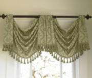 American Living Estate Taffeta Damask Rod-Pocket Regent Valance