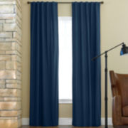 JCPenney Home™ Jenner Cotton Rod-Pocket/Back-Tab Thermal Curtain Panel