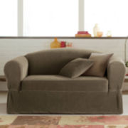 Maytex Collin Stretch 2-piece Loveseat Slipcover