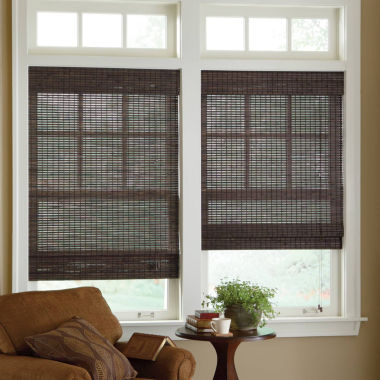 jcpenney.com | JCPenney Home™ Custom Bamboo Woven Wood Roman Shade