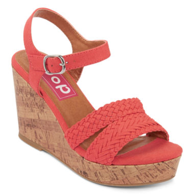 jcpenney.com | Pop Perth Braided Platform Ankle-Strap Wedges