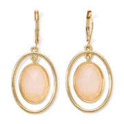 Monet® Pink Stone Gold-Tone Orbital Earrings