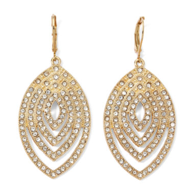 jcpenney.com | Monet® Crystal and Gold-Tone Earrings