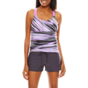 Zeroxposur® Static Wide-Strap Tankini Swim Top, Swim Bottoms or Swim Cover-Up