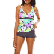 Zeroxposur® Bloom Action Halterkini Swim Top, Swim Bottoms or Swim Cover-Up