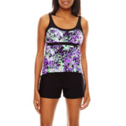 Zeroxposur® Grove Peasant Tankini Swim Top, Swim Bottoms or Swim Cover-Up