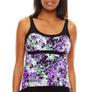 Zeroxposur® Grove Peasant Tankini Swim Top