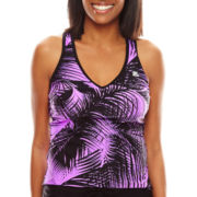 Zeroxposur® Palmetto Sunray Tankini Swim Top