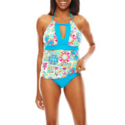 Liz Claiborne® Tunesia Tiles Halter Tankini Swim Top or Tunesia Tiles Hipster Bottoms