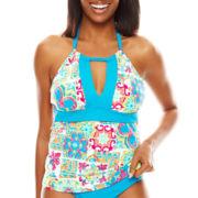 Liz Claiborne® Tunesia Tiles Halter Tankini Swim Top