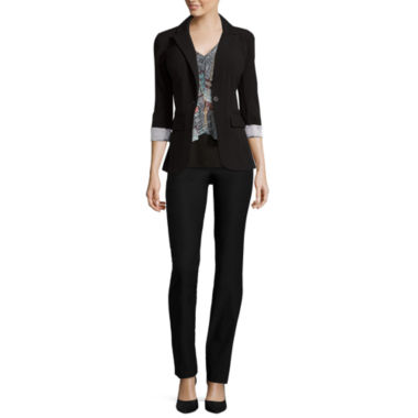 jcpenney.com | By & By Necklace Top, Slim Fit Pants or Boyfriend Jacket
