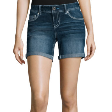 jcpenney.com | Ariya™ Curvy Denim Low-Rise Shorts - Juniors