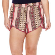 Arizona Pom Pom Shorts - Plus