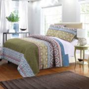 Greenland Home Fashions Shangri-La Quilt Set