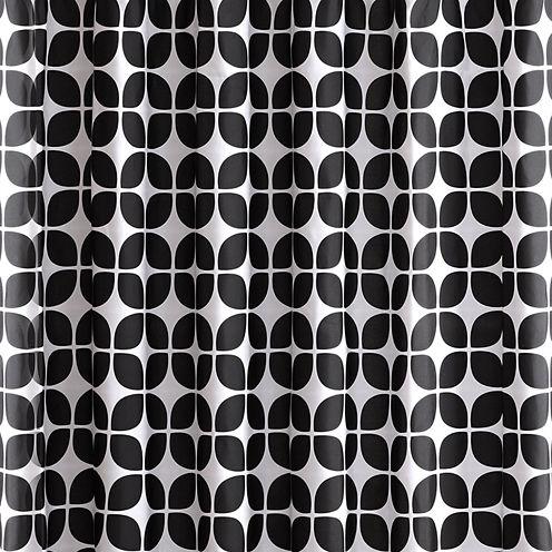 Intelligent Design Jullian Printed Shower Curtain