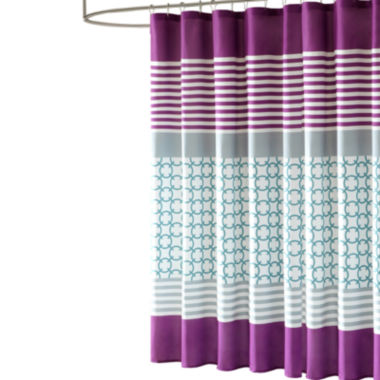 jcpenney.com | Intelligent Design Lacy Microfiber Shower Curtain