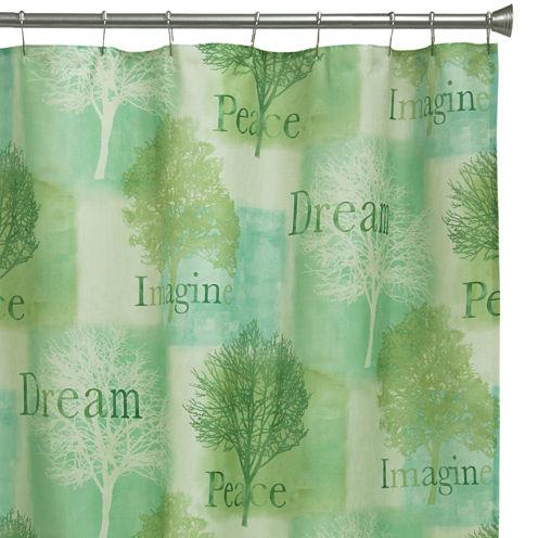 Bacova Spa Trees Shower Curtain
