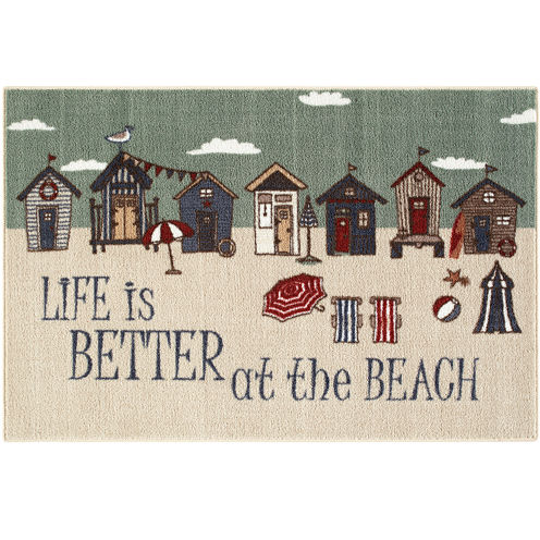 Better at the Beach Novelty Rectangular Rug