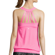 Xersion™ Strappy Layered Tank Top