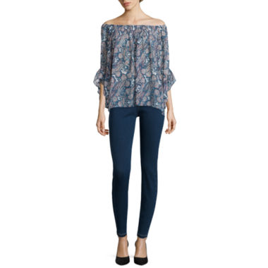 jcpenney.com | i jeans by Buffalo Long-Sleeve Briley Smocked Shirt or Cropped Jeggings