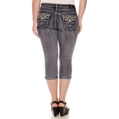 jcpenney.com | Love Indigo Flap Pocket Capris - Plus