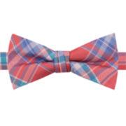 IZOD® Andrew Plaid Pre-Tied Bow Tie