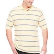 The Foundry Supply Co.™ Short-Sleeve Striped Piqué Polo - Big & Tall