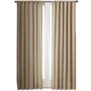 Skylar Fretwork Boarder Flipable Rod-Pocket Curtain Panel