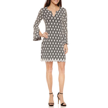 jcpenney.com | Robbie Bee Long Sleeve Lace Sheath Dress-Petites