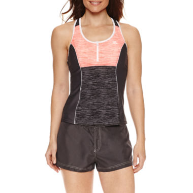 jcpenney.com | ZeroXposur® Heather Stripe Tankini or Board Short
