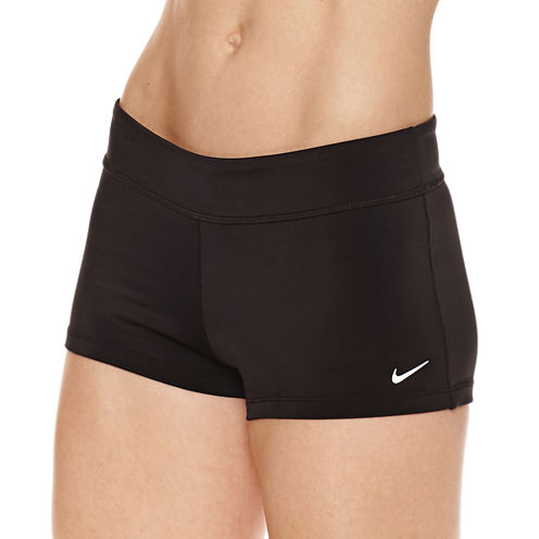 Nike Solid Boyshort Swimsuit Bottom