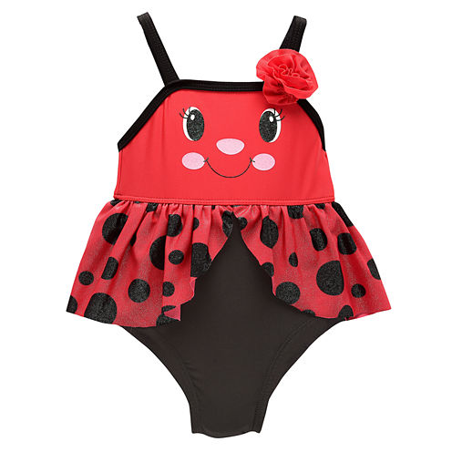 Solid One Piece Swimsuit Toddler