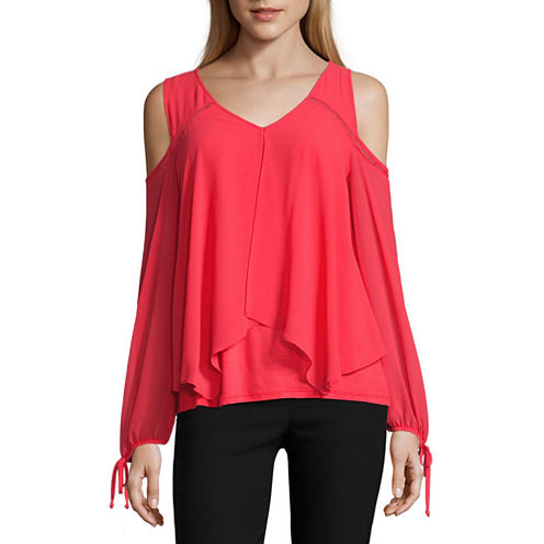 By&By Cold Shoulder Split Top