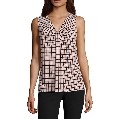 Worthington® Sleeveless Knot-Neck Top - Petite