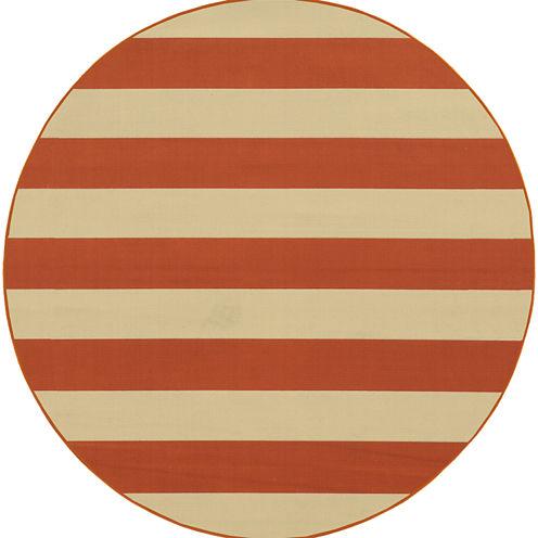 """Covington Home Cabana Stripes Round Rug - 7'10"""""""