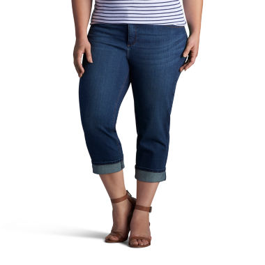 jcpenney.com | Lee Denim Rolled Crop- Plus