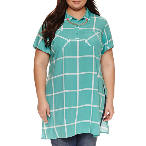 Ashley Nell Tipton for Boutique + Tunic Top - Plus
