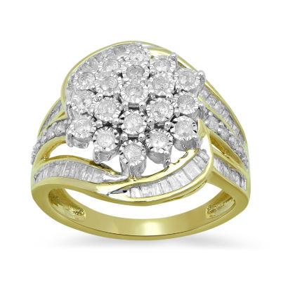 Fine Jewelry 1 CT. T.W. Diamond 10K Yellow Gold Cocktail Ring id8vN3wk