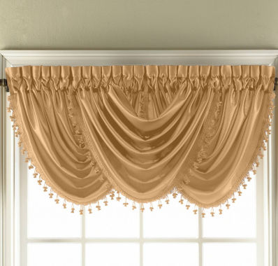 jcpenney.com | Royal Velvet® Hilton Rod-Pocket Waterfall Valance
