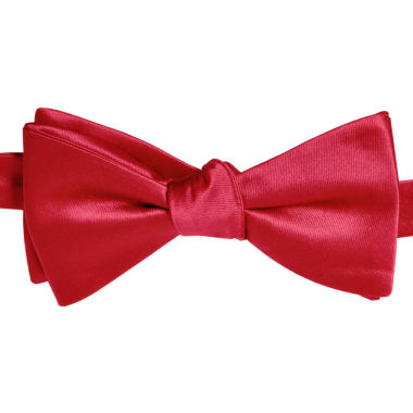 jcpenney.com | Stafford® Satin Solid Pre-Tied Bow Tie