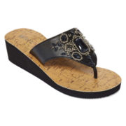 Mixit™ Beaded Cork Wedge Sandals