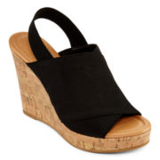 CL by Laundry Isla Wedge Slingback Sandals