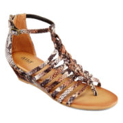 a.n.a® Gloria Braided Gladiator Sandals