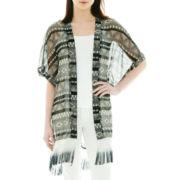 Aztec-Print Kimono