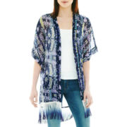 Geometric-Print Kimono