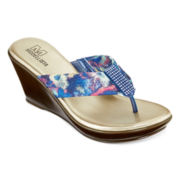 Modelista Rhea Wedge Thong Sandals