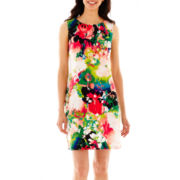 Worthington® Sleeveless Floral Print Shift Dress